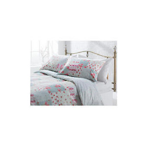 Photo of Tesco Amelia Patch Print Duvet Set Single, Pink Bed Linen