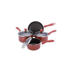 Photo of Prestige Urban 4 Piece Pan Set, Red Cookware