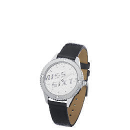 Miss Sixty Diamonte Case Black Strap Watch Reviews