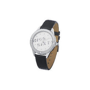 Photo of Miss Sixty Diamonte Case Black Strap Watch Watches Woman