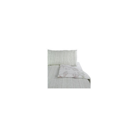 Tesco Shadow Print Duvet Set Single, Natural