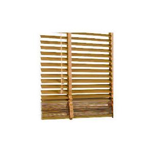 Photo of Wood Venetian Blind Oak Effect 90CM 35MM Slats Blind