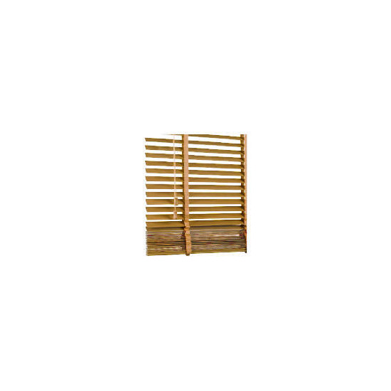 Wood Venetian Blind Oak Effect 90cm 35mm slats