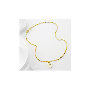 Photo of 9CT Gold Heart Charm Anklet Jewellery Woman