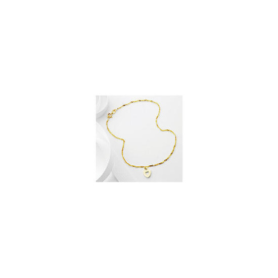 9ct Gold Heart Charm Anklet