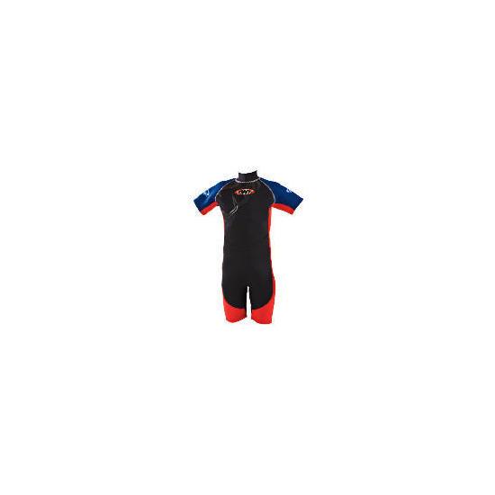 TWF Wetsuit Shortie Kids 7 Red