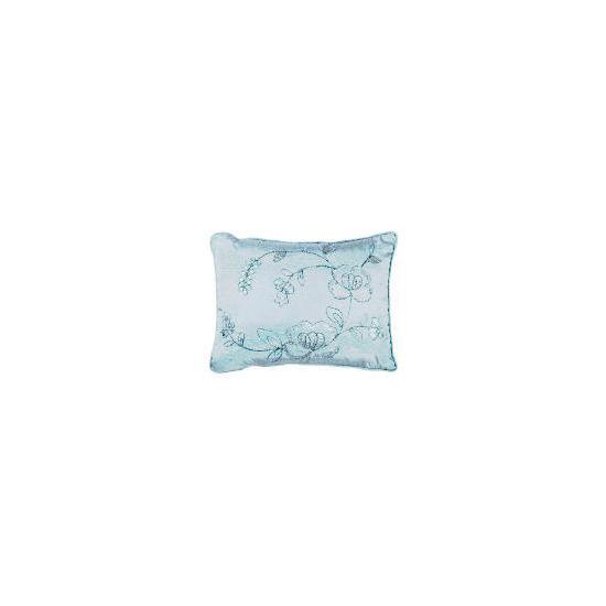 Tesco Rose Sequin Cushion, Aqua