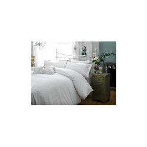 Photo of Elspeth Gibson Dotty Duvet Set Double, White Bed Linen