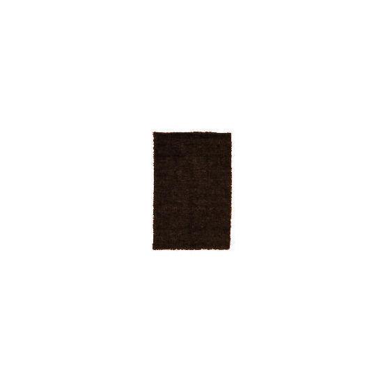 Tesco Polyester Shaggy Rug Mocha,  120x170cm