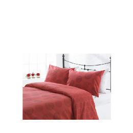 Tesco Spiral Print Duvet Set Kingsize, Red Reviews