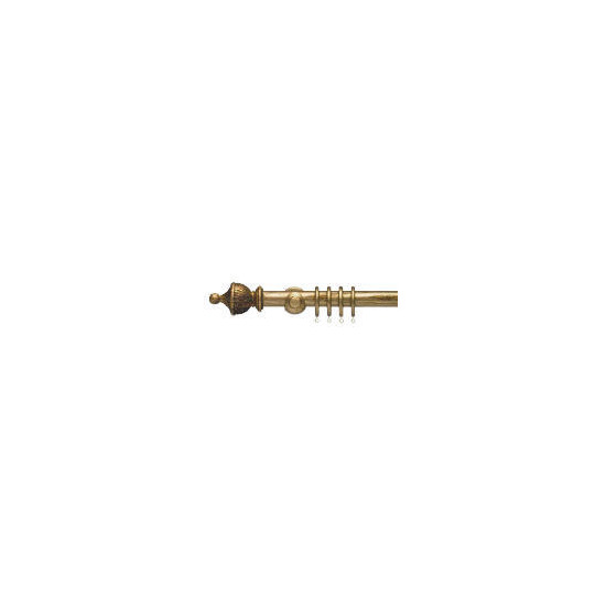 Luxury 28mm Wood Pole Urn Finial 240cm Antique Gold