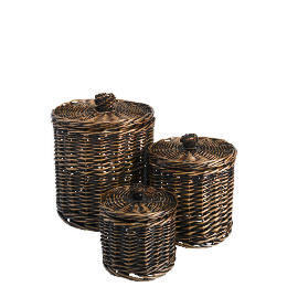 Tesco Willow round storage basket dark natural set of 3 Reviews