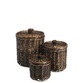 Tesco Willow round storage basket dark natural set of 3 Reviews