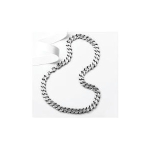 "Photo of Silver Oxidised Gents Curb Chain, 20"" Jewellery Men"