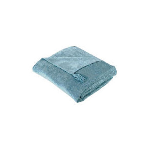 Photo of Tesco Finest Chenille Throw, Duck Egg 125X150CM Cushions and Throw