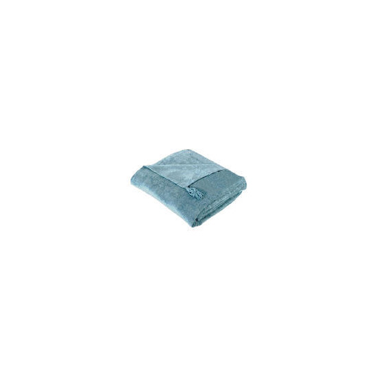 Tesco Finest Chenille Throw, Duck Egg 125x150cm