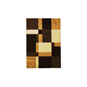 Photo of Tesco Shaggy Squares Natural & Red 120X170CM Rug