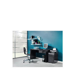 Curve High Gloss Office Desk, Black Reviews