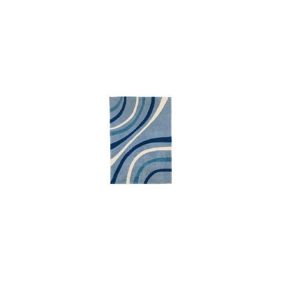 Tesco Waves Rug Duck Egg 90x150cm
