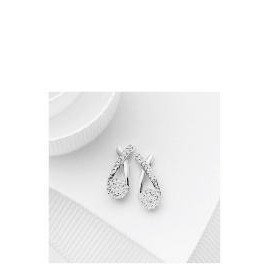 9ct White Gold Invisible Set Crossover Earrings Reviews