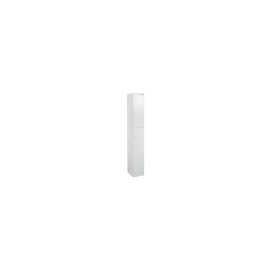 Kensington High Gloss White Tall Boy