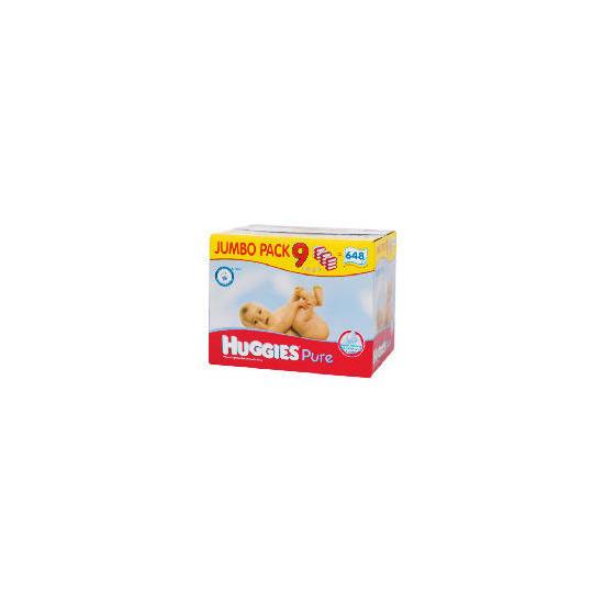 Huggies Pure Wipes 9 Pack 649