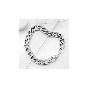 Photo of Stainless Steel Heavy Curb Bracelet Jewellery Woman