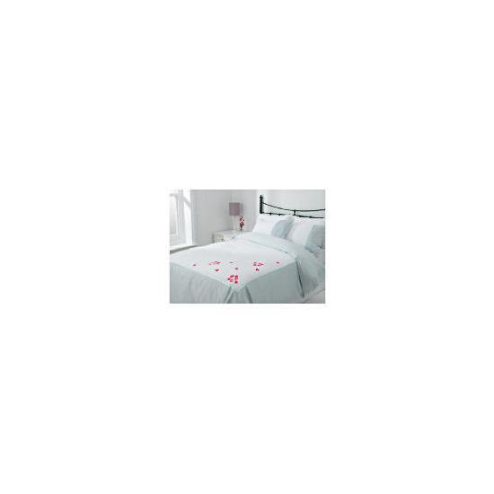 Tesco Imogen Embroidered Duvet Set Kingsize, White