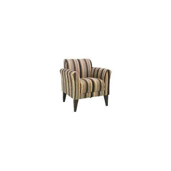 Metro Occasional Stripe Chair, Charcoal