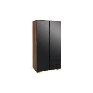 Photo of Ferrara Double Wardrobe, Black & Walnut Furniture