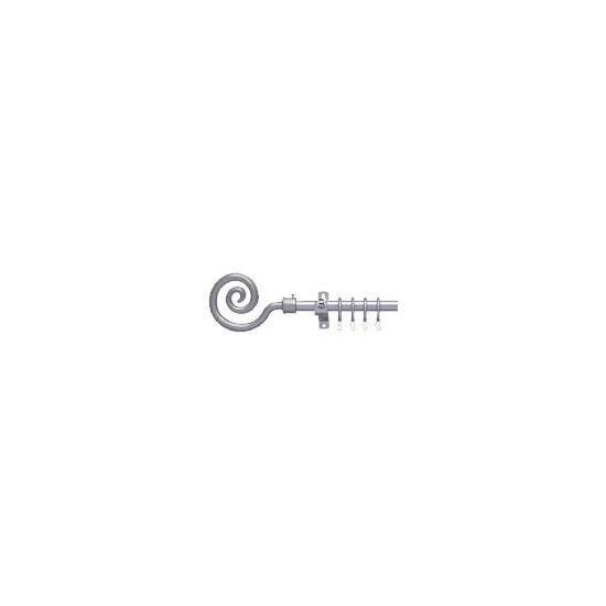 ExtEndable Metal Pole With Crook Finial 16-19mm 120-210m Silver