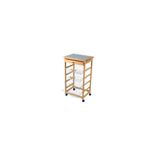 Pine Trolley with wire draws