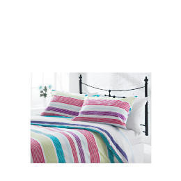 Tesco Midnight Garden Stripe Print Kingsize, Multi-coloured Reviews