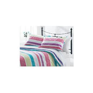 Photo of Tesco Midnight Garden Stripe Print Kingsize, Multi-Coloured Bed Linen