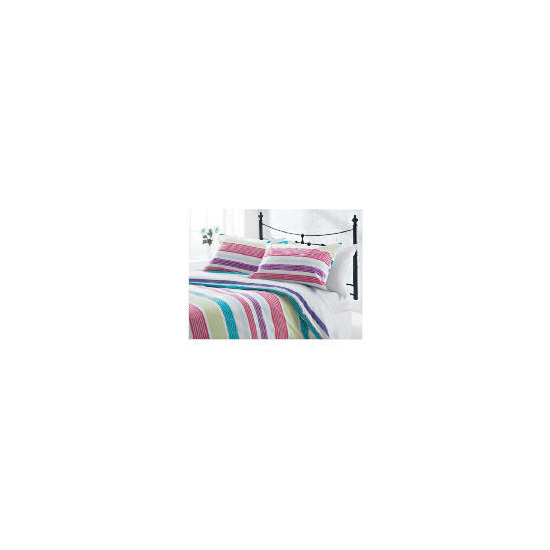 Tesco Midnight Garden Stripe Print Kingsize, Multi-coloured