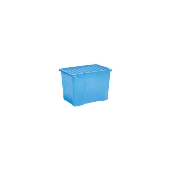 80L box with lid blue