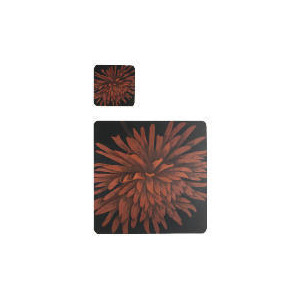 Photo of Tesco Red Flower 6 PCK Placemat and Coaster Dinnerware
