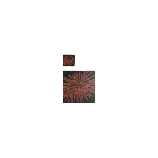Tesco Red flower 6 pck Placemat and coaster
