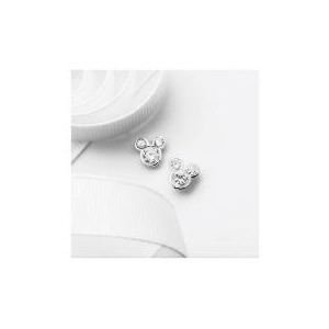 Photo of Disney Mickey Mouse Cubic Zirconia Stud Earrings Jewellery Woman
