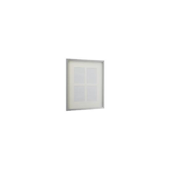 Tesco Block Silver Frame 4 Aperture