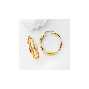 Photo of Pave Champagne Twist Hoop Earrings Jewellery Woman