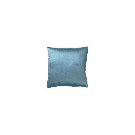 Tesco Finest Plain Silk Cushion, Duck Egg