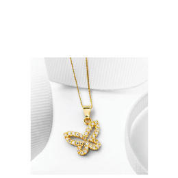 9ct Gold Cubic Zirconia Butterfly Pendant Reviews