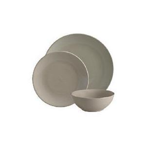 Photo of Tesco Mono Dinnerware Set 12 Piece, Stone Dinnerware