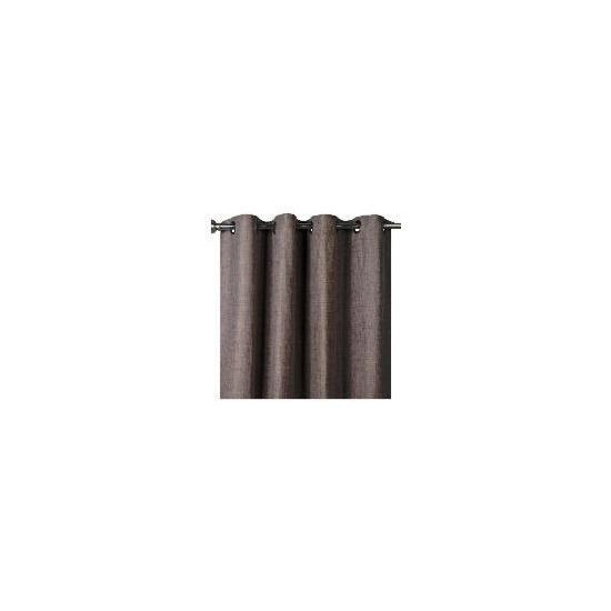 Finest Oban Texture Weave Lined Eyelet 163x229cm Mocha