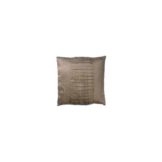 Tesco Finest Pleated Silk Cushion, Mocha