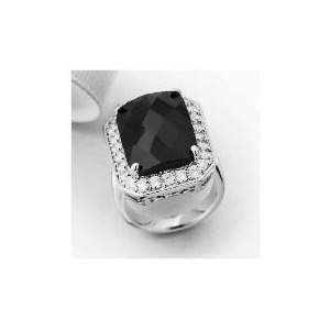 Photo of Pave Back To Black Solitaire Ring - Large Jewellery Men