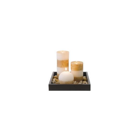 Tesco Candle Garden Set With Ball Candle