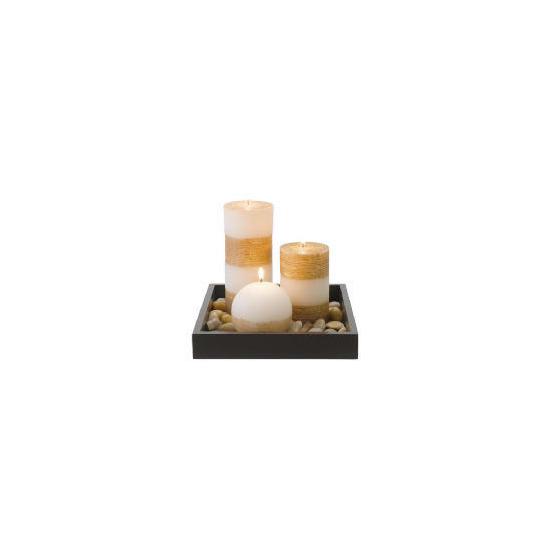 Tesco Candle Garden Set With Ball Candle