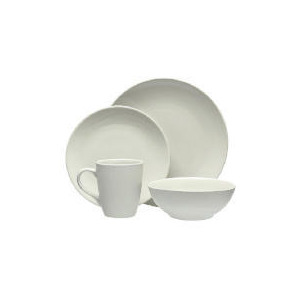 Photo of Tesco Mono Dinnerware Set 16 Piece, Stone Dinnerware